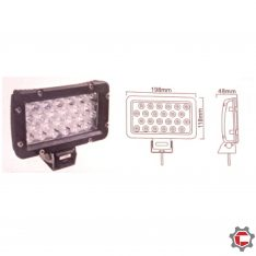 24W (24 1watt) Rectangle LED Work Light for Unimog and Gwagen