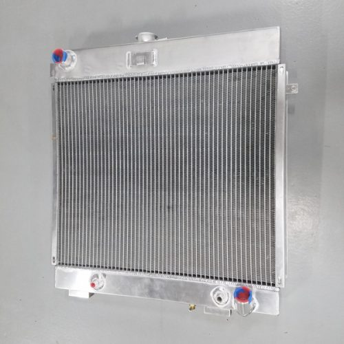Front of a radiator custom built for g class waggen w460 460